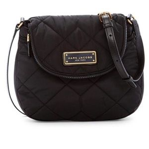 NWT Black Marc Jacobs Quilted Nylon Crossbody Bag
